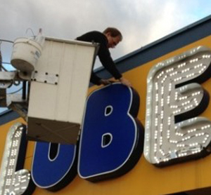 Retrofitting from Neon to LED @ JiffyLube